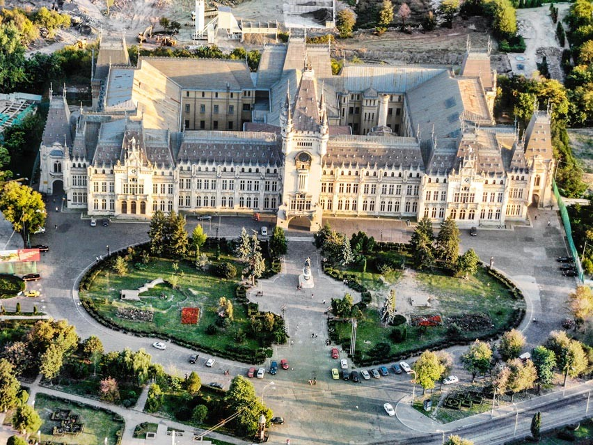 Palace of Culture in Romania