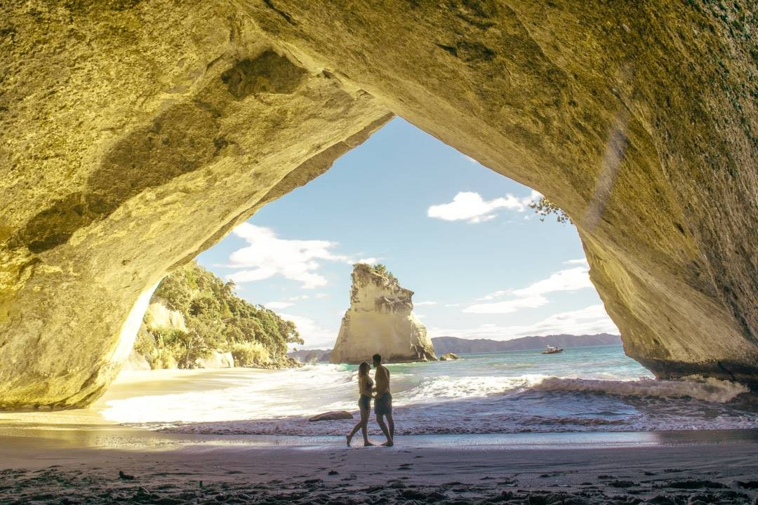 Couples at Cathedral Cove