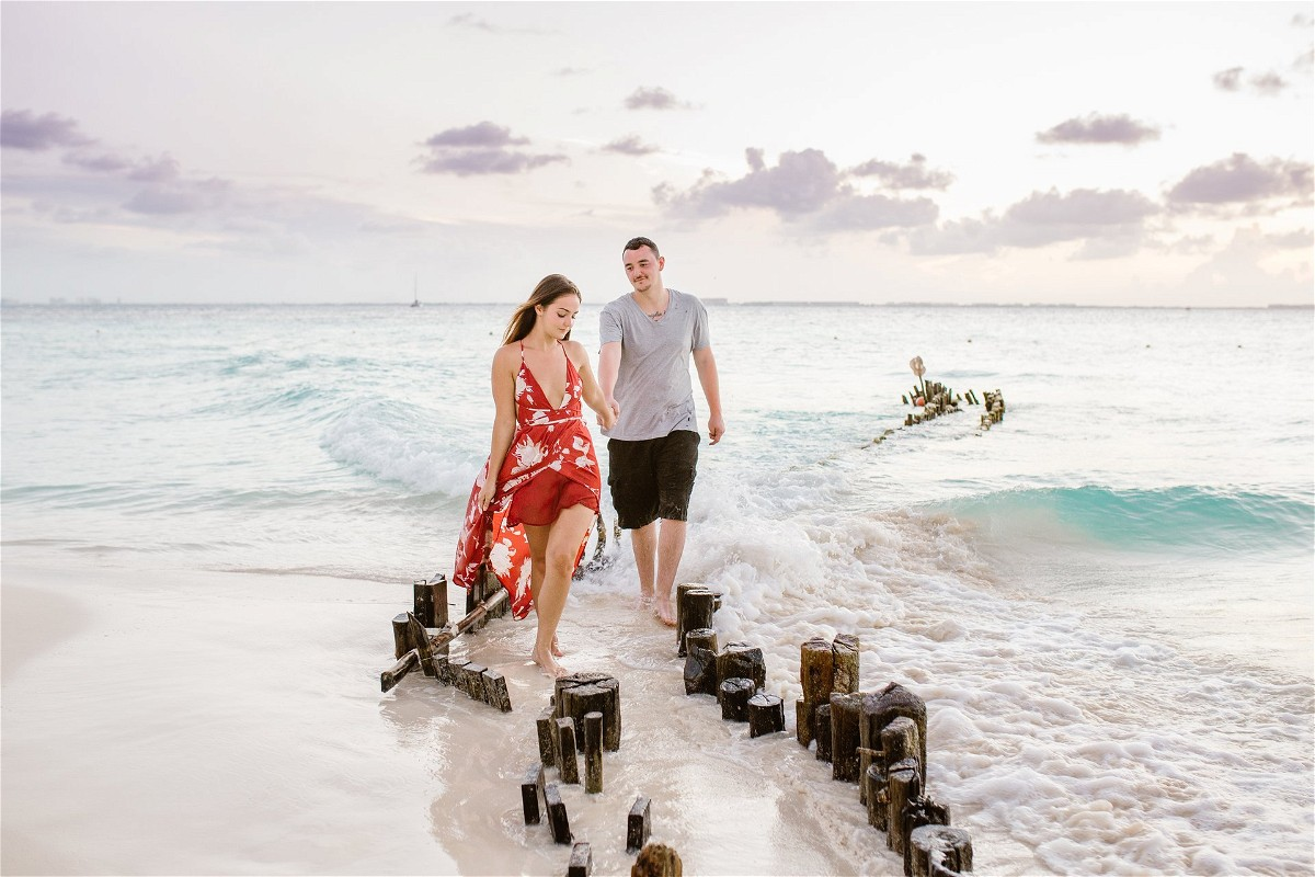 Couple at Isla Mujeres Beach