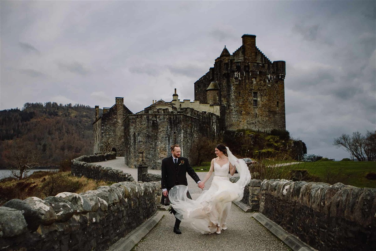 Couple at Eilean Donan Castle