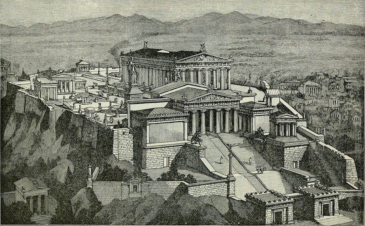Ancient Image of Acropolis from Golden Era