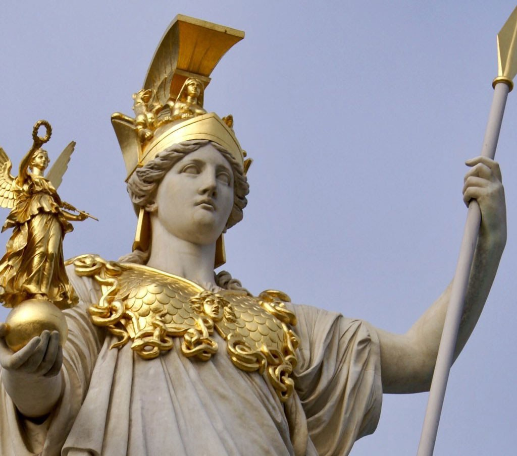 Statue of greek goddess Athena