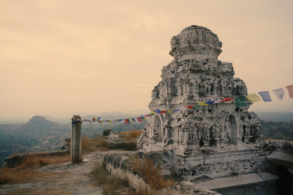 Temple at Matanga Hill, Via