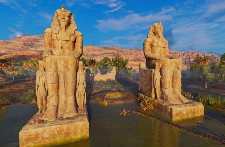 Featured- Singing Colossi of Memnon, Egypt