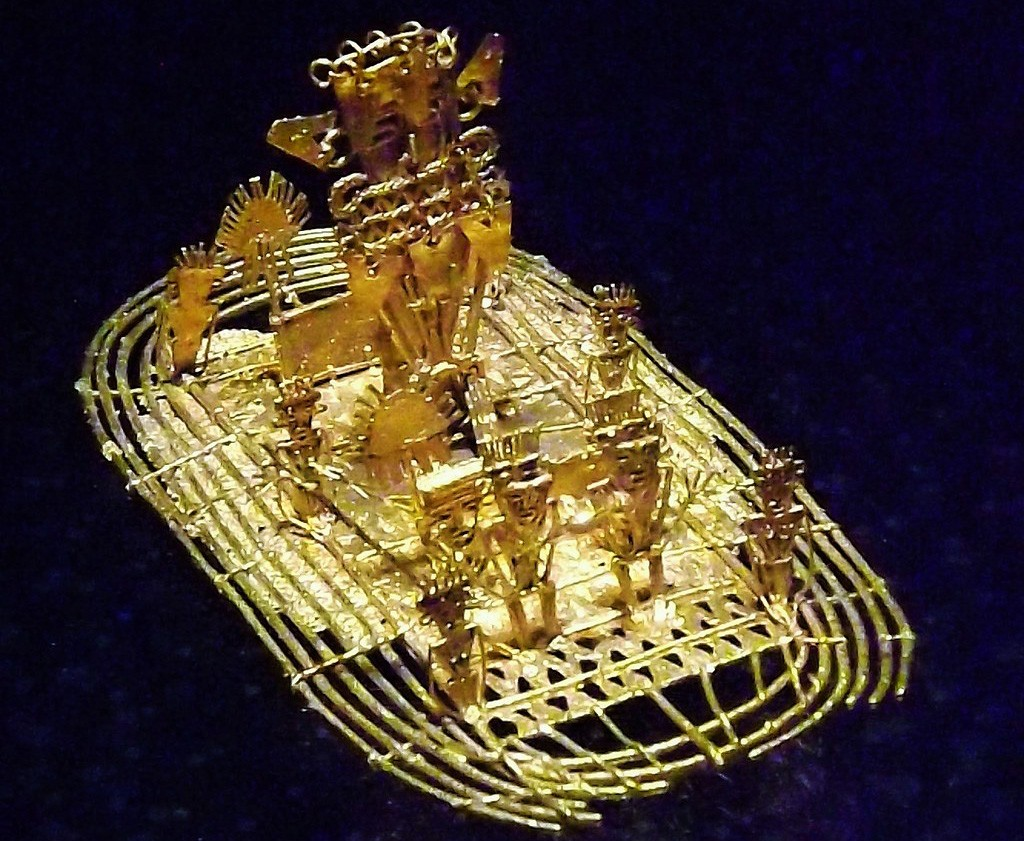 Muisca Artefact: The golden raft of Muisca tribe