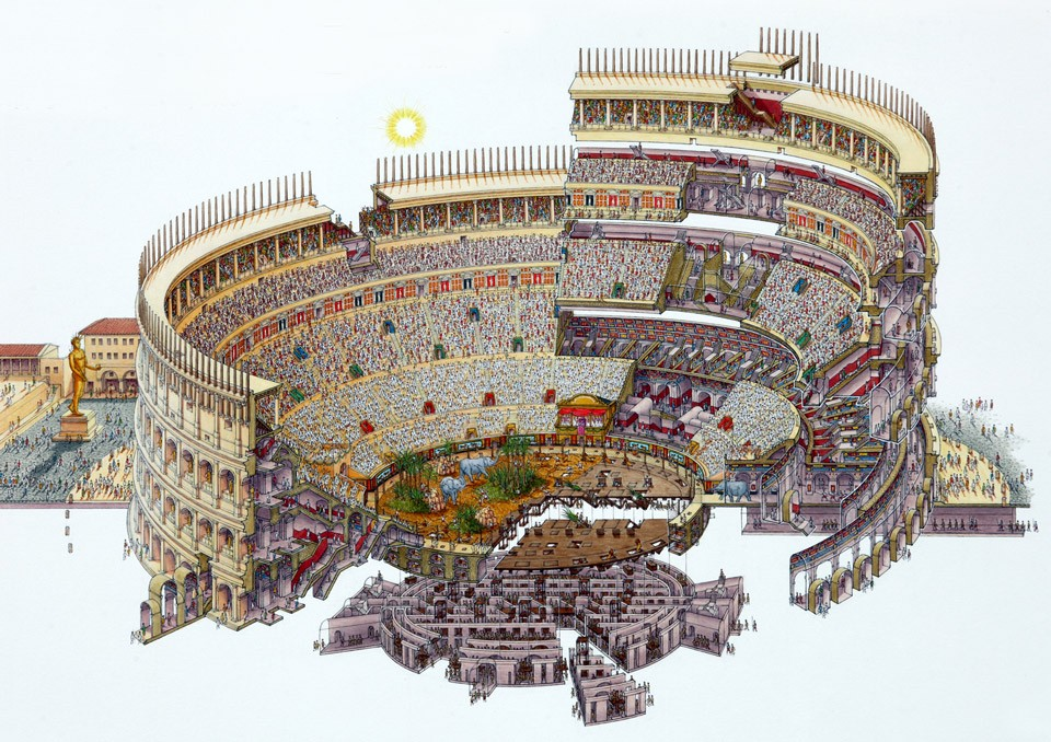 Construction of Roman Colosseum